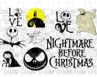 Nightmare Before Christmas Full Bundle SVG Set