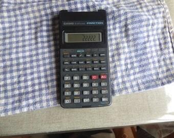 vintage Casio fx-82 Super Fraction Scientific Calculator - Working