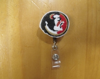 NCAA Florida State Seminoles FSU Retractable Reel ID Badge Lanyard Clip Nursing Scrubs