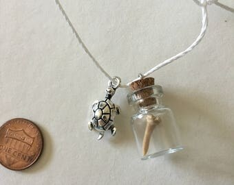 Sailboat and Sea Turtle Shark Tooth Necklaces