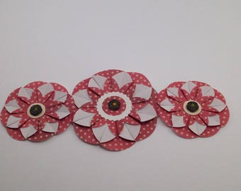 Hand Crafted Flowers, Paper Embellishments, Decorations, Design, Gift Tags, Gift Decorations