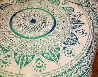 Mandala tapestry, Mandala bedding, mandala pillowcases. Mandala bedspread, wall tapestry,  Beach blanket, Boho dorm room, Hippie decor