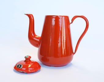 Enamel teapot coffeepot | Vintage