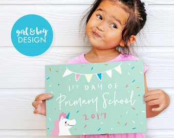 First Day of School Sign, Printable 1st Day Sign, Back to School Sign,  First Day of School Sign Girl, First Day of School Sign Boy, Prop