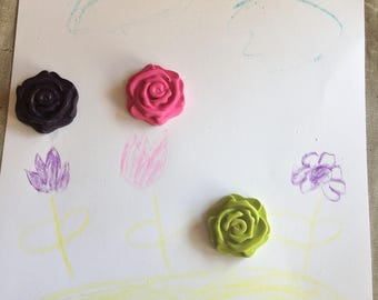 Minature Flower Crayons Set of 12