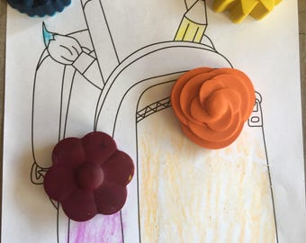Large Flower Crayons