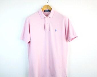 POLO by RALPH LAUREN • Poloshirt • M • T-shirt • Classic • Pink • Men's shirt