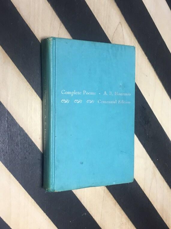 Complete Poems: A. E. Housman - Centennial Edition (1959) hardcover book