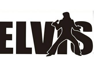 Elvis Silhouette Decal