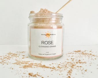 Rose Cleansing Grains | Cleansing Grains Face Mask | Dry Face Mask | Sensitive Skin | Clay Mask | Gluten Free