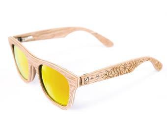 Wooden sunglasses, Engraved sunglasses, Holz Sonnenbrille, Gift for her, Gift for woman, Unisex sunglasses, Graves, Gravierte