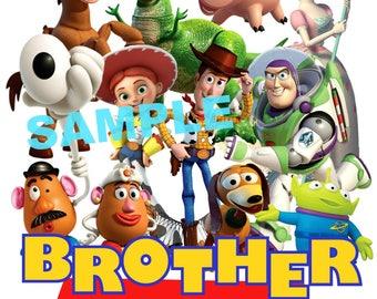 Toy Story Birthday Iron On Shirt Transfer, Disney Jessie Woody Buzz Lightyear tshirt or clip art printable, Brother of the Birthday Boy