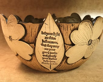 Large Scripture Dogwood Bowl 53