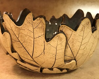 Large Oak Leaf Bowl 128