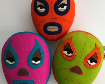 Mexican masks/Mexican wrestling cushion/Luka the Pau