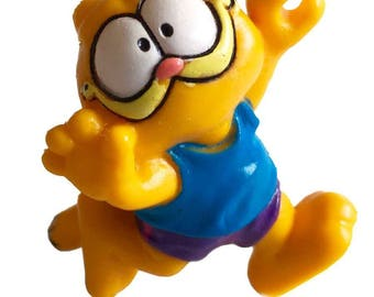 Garfield Jumping Garfield in Shorts 2 Inch PVC Figure 1981 United Feature Syndicate