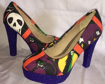 Halloween shoes / heels * * * uk sizes 3-8 * * *