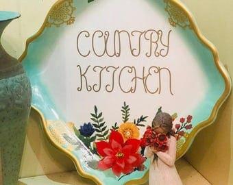 Custom designer plate