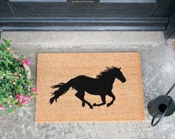 Galloping horse doormat - 60x40cm