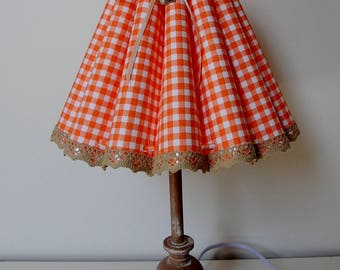 "Table lamp ""Orange checkered"" (orange checkered)"