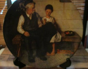 Knowles Norman Rockwell Collectors Plate - The Lighthouse Keepers Daughter Limited Edition (1979)