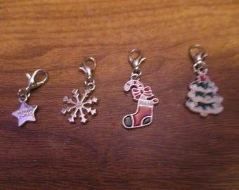 Charm Bracelet Charms - Christmas Charms Set of Four