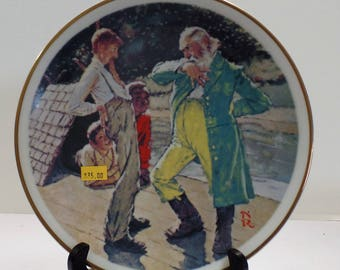 """Vintage Norman Rockwell """"No Kings Nor Dukes"""" Collector's Plate"""