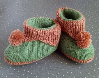 Warm baby booties