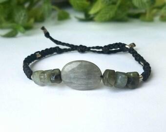Labradorite Raw Stone Bracelet