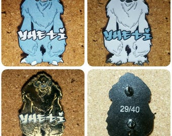 YHETI Hat Pin Full Set On Sale LE40 - White, Blue, and Gold Glow in the Dark YHETI Pin set Matching Numbers