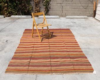 BALIKESIR Turkish Vintage Handmade Oriental Rug 8.8ft by 5.9ft