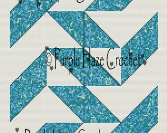 Ripples n Waves Quilt Inspired Crocheted Graphghan Pattern