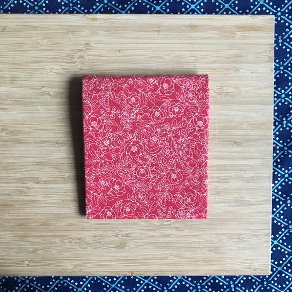 """Premium Cotton Fabric Fat Quarter - Designer Fabric - Quilting Fabric - Fat Quarters 18"""" x 21"""" Red Floral Print"""