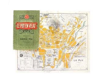 """1940 - WWII - Vintage """"Le Puy En Velay"""" City Guide With Maps, Streets - Editions Guides Pol, Lyon"""