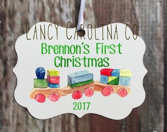 First Christmas Ornament, Watercolor Ornament, First Christmas Ornament Baby, 1st Christmas Ornament, 1st Christmas Ornament Baby Boy,