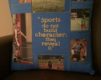 Memory Pillow, Sports Pillow