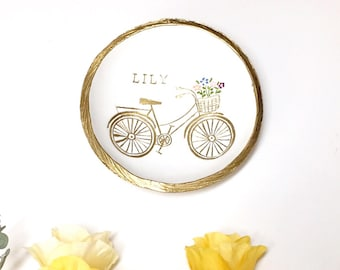 Garden Bike Jewelry Dish / Personalized Jewelry Dish / Personalized Ring Dish / Personalized/ Gift / Bridesmaids Gift / Gifts for Her