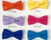 solid color dog or cat bow tie