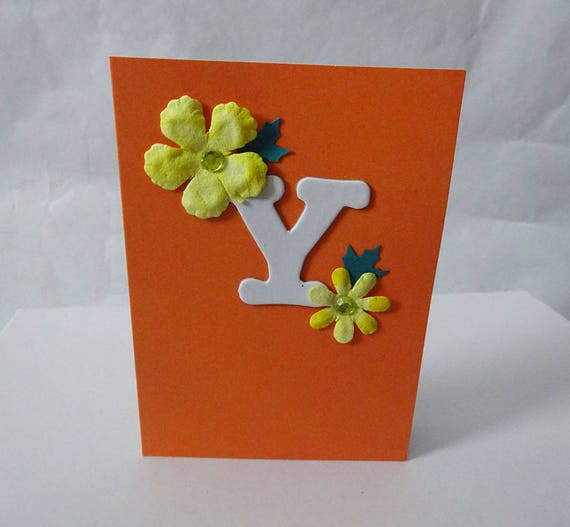 "Monogram/Initial Card - Letter ""Y"""