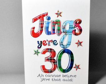 Scottish Jings 30 Card WWBI101