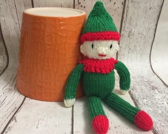 Hand Knitted CE Tested Christmas Festive Elf on a Shelf Santas Little Helper