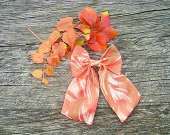 Bow tie brooch women fabric