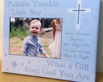 La madrina de los godparents del regalo del bautismo del recuerdo del bautizo personalizado cita la imagen recién nacida de la lona del