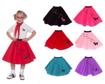 SMALL Child 4 6 50s POODLE SKIRT