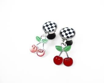 10 mm - Pin plug'up Rockabilly cherry