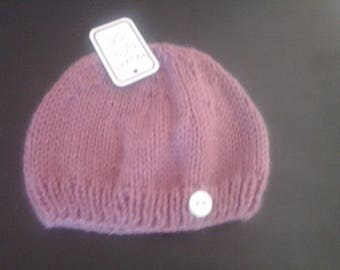 newborn purple baby Hat
