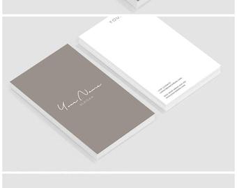 Business card template - Business card  design - Business cards - Custom business cards - Elegant warm grey business card template