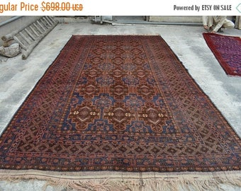BIG SALE 6.10 X 13 Feet Handmade Flat Weave Afghan Tribal Baluch Low Pile  Vintage Area