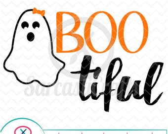 Boo-tiful - Halloween Graphic - Digital download - svg - eps - png - dxf - Cricut - Cameo - Files for cutting machines
