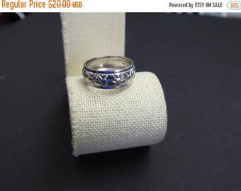 ON SALE stunning vintage sterling silver and sun band size 8